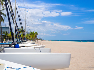 Wall Mural - Sailboats for rent at Fort Lauderdale beach in Florida