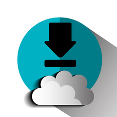 Interner download round icon