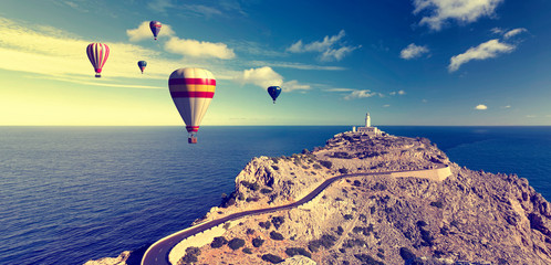 hot air balloons and formentor