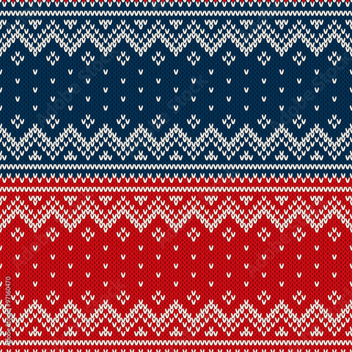 d8792ff90 Christmas Sweater Design. Seamless Knitted Pattern