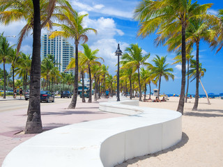 Wall Mural - The beach at Fort Lauderdale in Florida