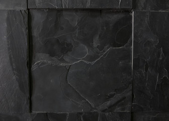 Black granite textile texture background  with copy space close