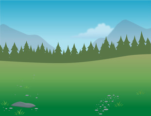 cartoon vector illustration of a wilderness background