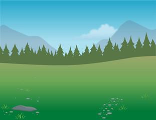 cartoon vector illustration of a wilderness background