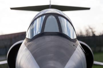 jet fighter close up
