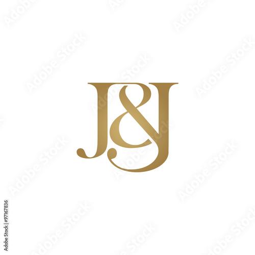 quotjampj initial logo ampersand monogram logoquot stock image