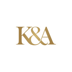 K&A Initial logo. Ampersand monogram logo