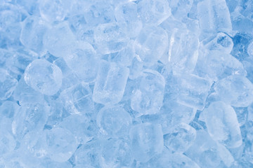 Background of ice cubes