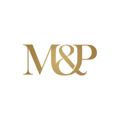 M&P Initial logo. Ampersand monogram logo