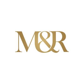 M&R Initial logo. Ampersand monogram logo