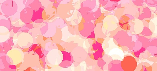 circle abstract background in pink for Valentine