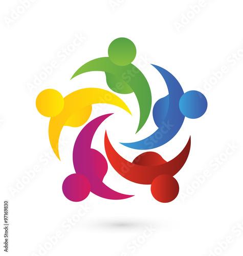 quotlogo teamwork helping meeting business social people