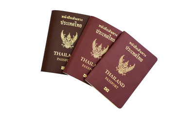Thailand Passportt Isolated on white background