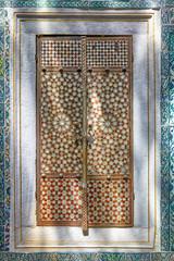 Doors with  nacreous inlayin in Harem of Topkapi palace, Istanbu