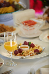 plate of fruit salad