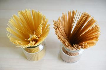Manojo de espaguetis vistos desde arriba