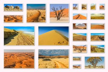 Namibia pictures collage