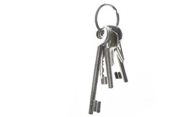 Schlüsselbund mit gebrauchten Schlüsseln