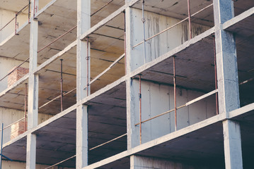 Construction industry site abstract geometric background