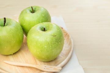 Green apple fruit set still life