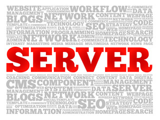 Server word cloud concept