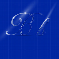Letter B in Italics Writing
