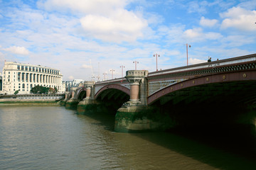 One of the bridges over the Thames