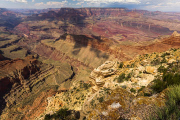 View over the Grand Canyon landscape, USA