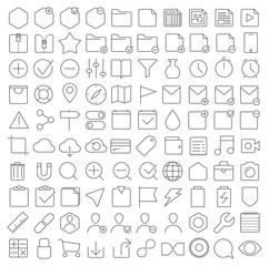 Universal interface icons set