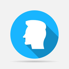 head with hair profile icon