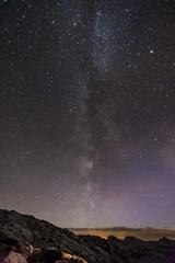 Milchstraße im Nachthimmel über dem Steinernen Meer bei Berchtesgaden