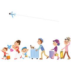 三世代家族で旅行