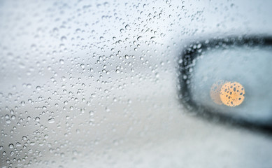 drops on the side mirrors