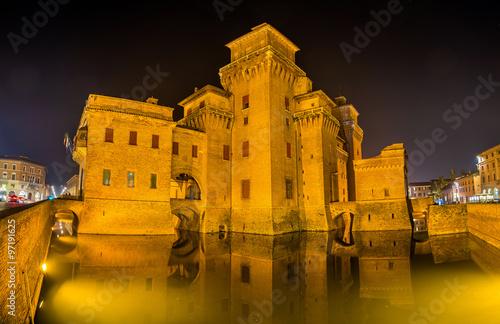 Castello Estense A Moated Medieval Castle In Ferrara Stock Photo