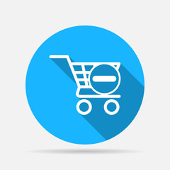 icon shopping cart delete