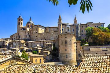 panoramic view of Urbino,Unesco site. Marche.Landmarks of Italy Wall mural