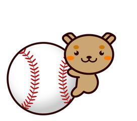 野球と動物シリーズ