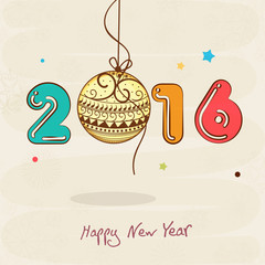 Greeting card for New Year celebration.