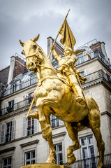 Joan Of Arc Statue Gold