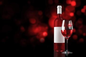 Composite image of rose wine