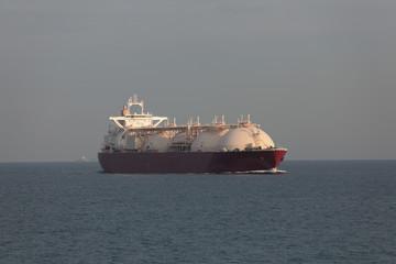 LNG tanker in transit at high seas