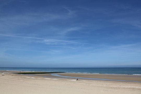 La plage de Cabourg à la fin juin.