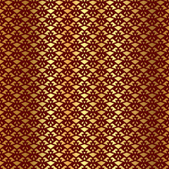 Seamless decorative vector background with golden abstract geometric shapes