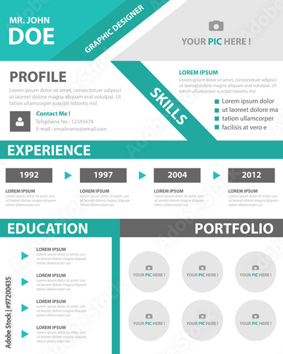 Creative smart resume cv template layout for job application creative smart resume cv template layout for job application yelopaper Images