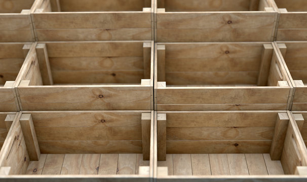 Stacked Wooden Crates