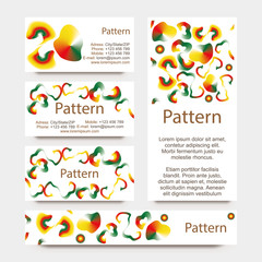 INCLUDES SEAMLESS PATTERN. Colorful gradient radial mesh card set