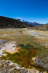 Junthuma geysers, formed by geothermal activity. Bolivia. Chilean border