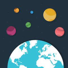 Planet, space, earth illustrations for your design