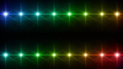 double Stars lens flares pattern color