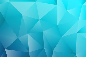 Polygon rectangle blue texture background.